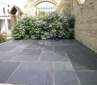 Pavestone Natural Midnight Slate 14.44m2 paving pack.  A lovely traditional blue toned slate suitable for both rustic and contemporary patios and paths. #SlatePaving #NaturalStonePaving