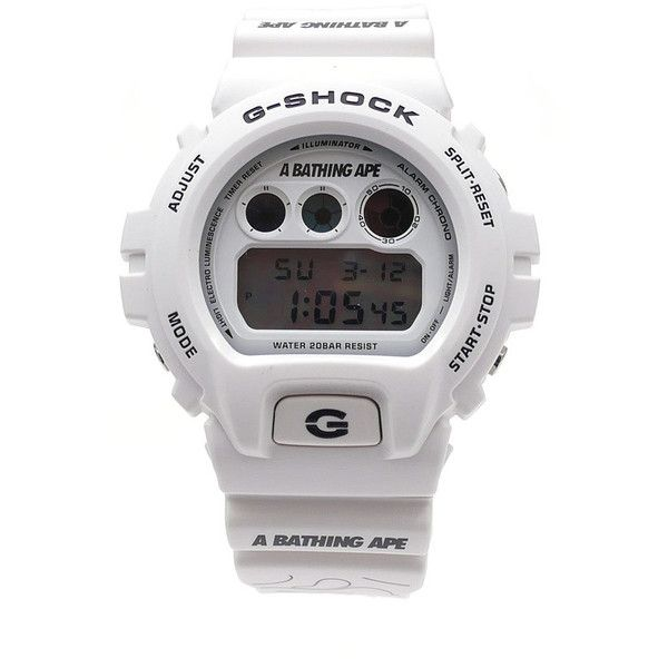 A BATHING APE x CASIO G-SHOCK DW-6900 WHITE (4.035.045 IDR) ❤ liked on Polyvore featuring home, home decor, inspirational home decor, white home decor and white home accessories