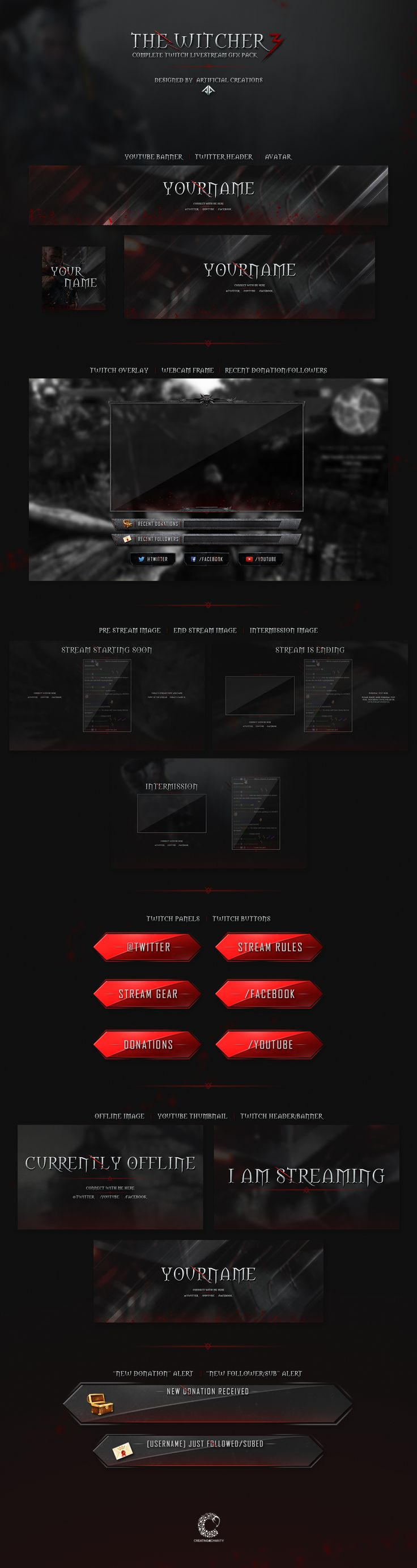 The Witcher 3 Livestream Pack on Behance