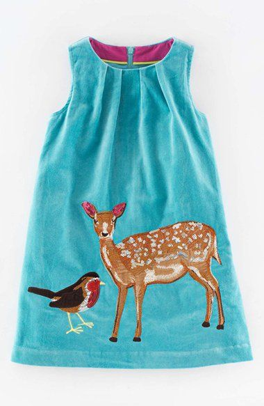 Mini Boden 'Animal Appliqué' Dress (Toddler Girls, Little Girls & Big Girls) | Nordstrom