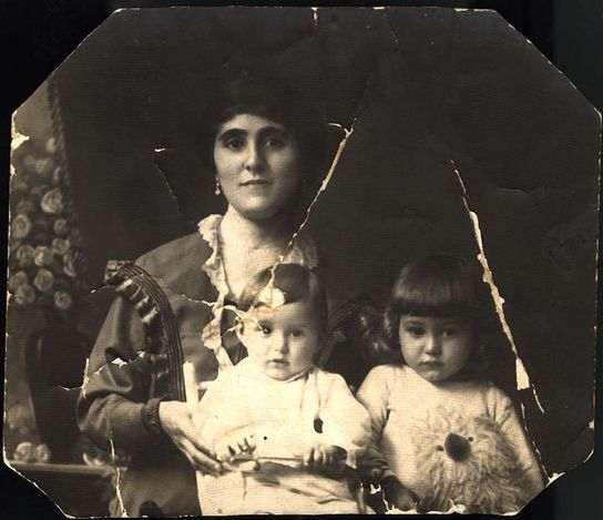 Hungary, Prewar, A mother with her two children. They were later brutally murdered by Nazis