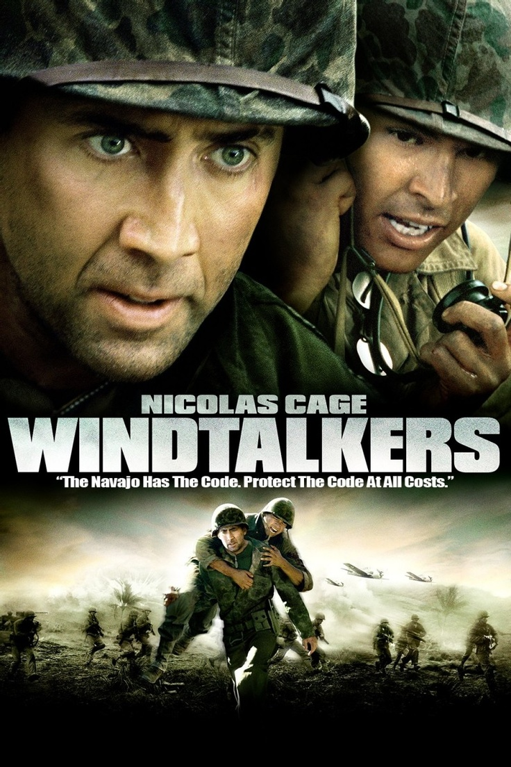 WindtalkersUs Marines, Windtalkers 2002,  Dust Jackets, 2002 Movie, Watches Movie,  Dust Covers, Wars Movie, Favorite Movie,  Dust Wrappers