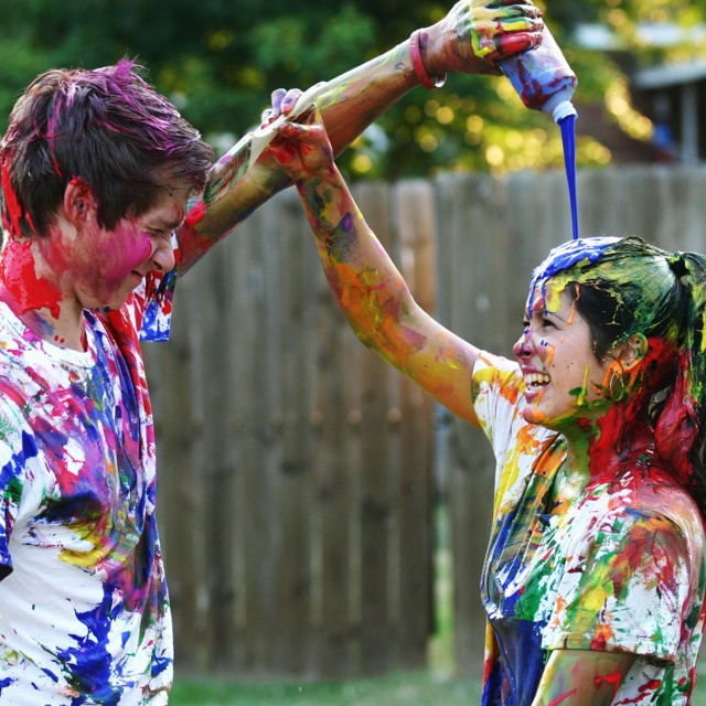 Paint fight with water balloons like they do in 10 Things I Hate About You
