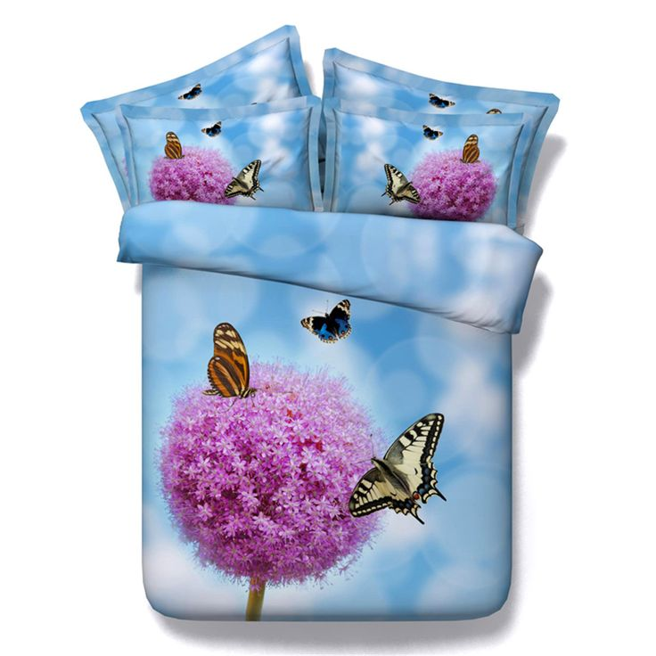 Flower Series Home Textiles Bedding Sets Three Types (Black/Sky Blue/Deep Blue)Duvet Cover Pillowcase Bed Sheet 3/4PC Kids/Adult //Price: $44.24 & FREE Shipping //     #bedding sets