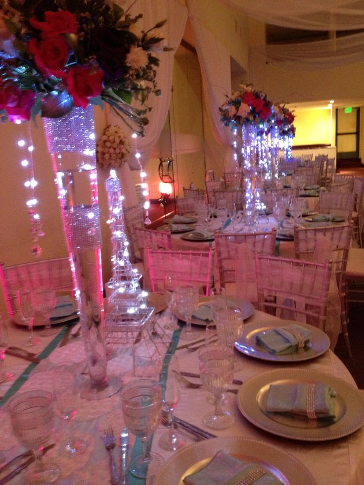 Quinceanera light up centerpiece quincenera pinterest