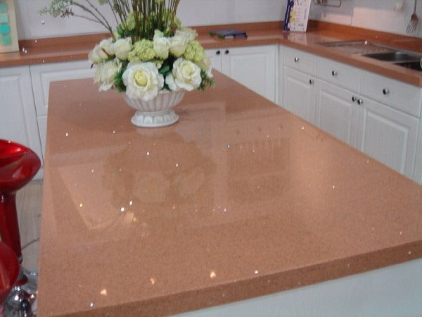 Peach sparkly counters kitchen planning pinterest for Kitchen countertop planner