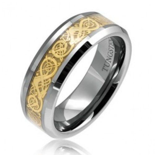 Bling Jewelry St Patricks Day Jewelry Celtic Cross Design Curved Brushed Tungsten Ring 8mm O8lhtb