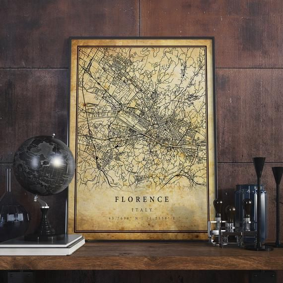 Florence Vintage Map Poster Wall Art City Artwork Print Etsy City Artwork Poster Wall Art Artwork Prints