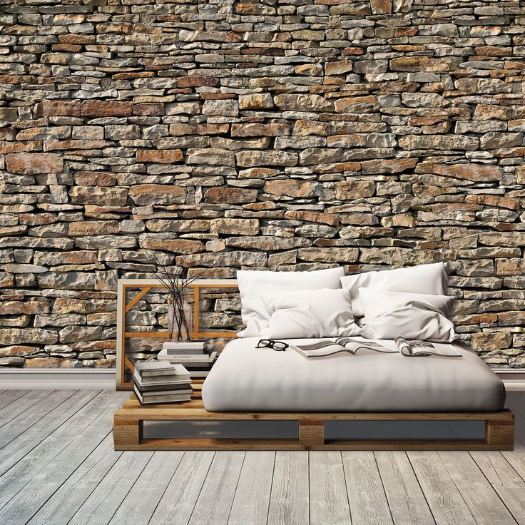 american stones papier peint photo 366 x 254 cm pierres 3d mur de pierres. Black Bedroom Furniture Sets. Home Design Ideas