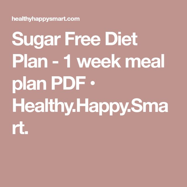 sugar free meal plan pdf