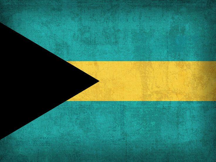 Bahamas Flag Vintage Distressed Finish Mixed Media