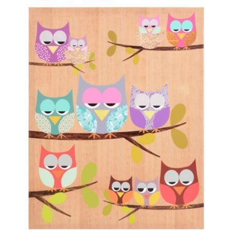 Lazy Owls Canvas Art Print | Kirkland's