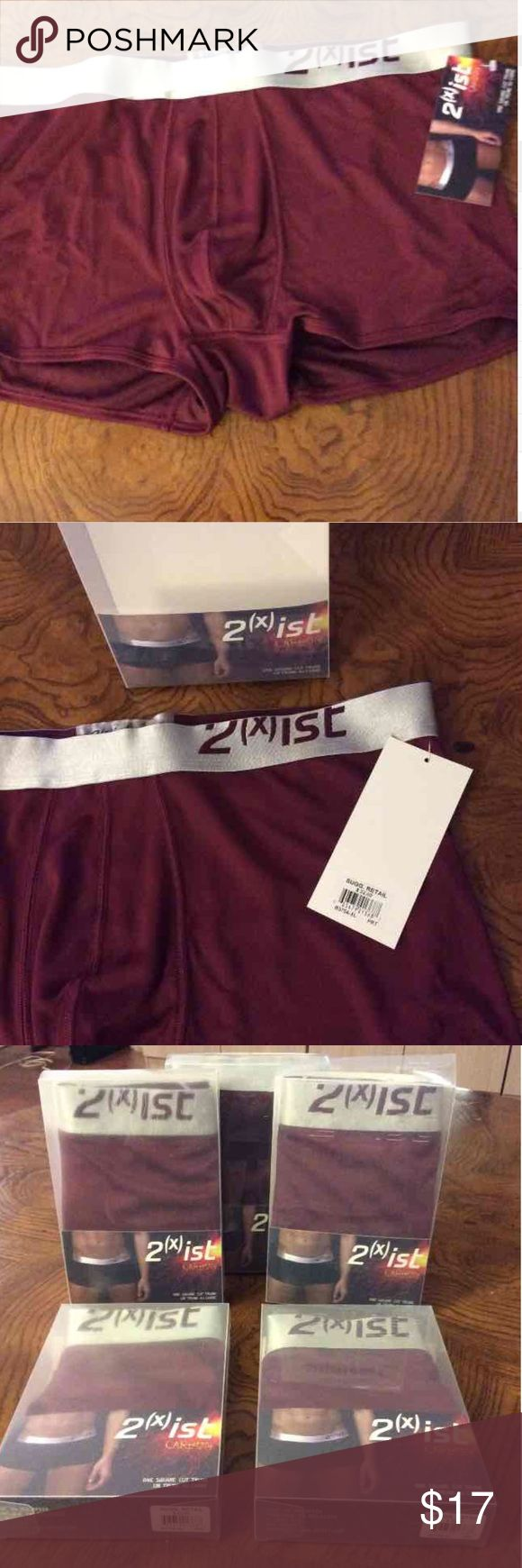 2xist men's square trunks Size xl. Brand new in box. Never worn. Maroon color. $22 each retail 2xist Underwear & Socks Boxer Briefs