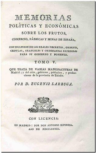 Memorias pol ticas y econ micas sobre los frutos comercio - Fabricas de cristal en espana ...