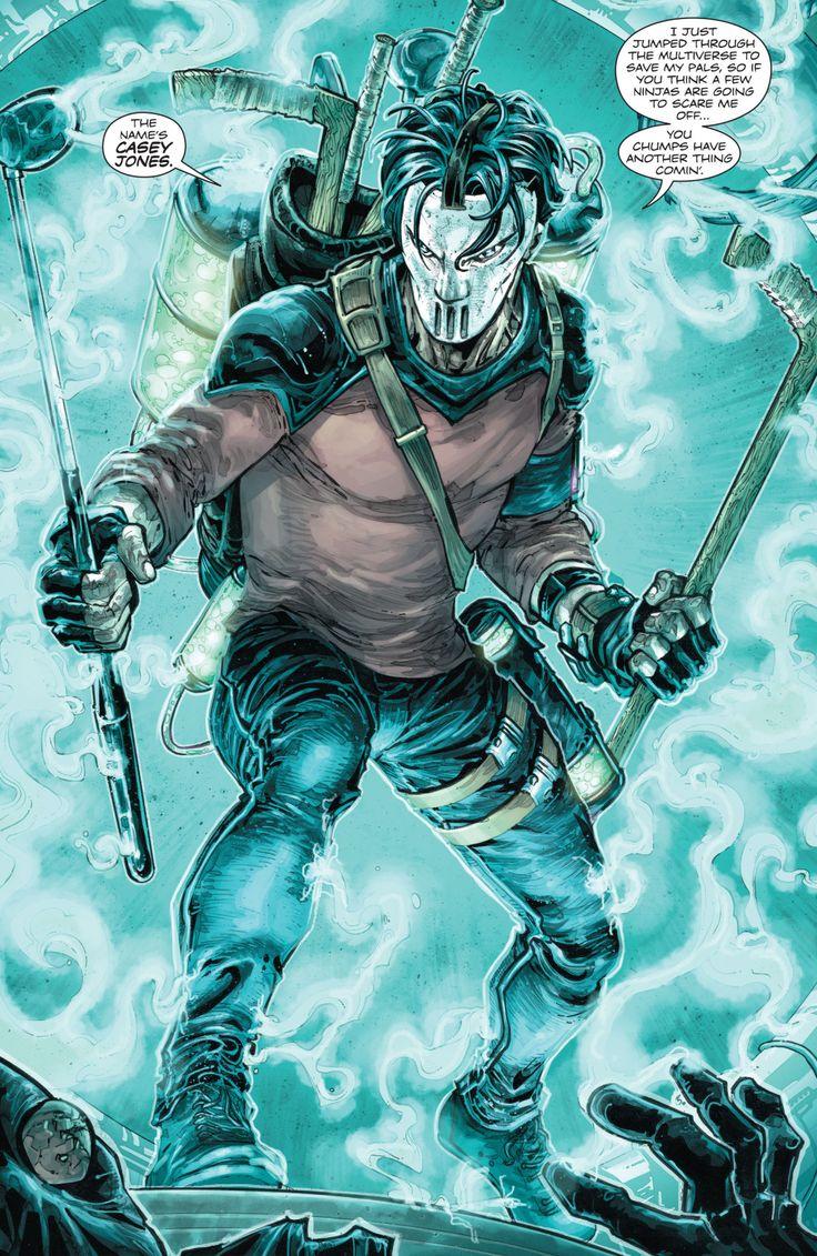Casey Jones in Batman/Teenage Mutant Ninja Turtles #4 - Freddie E. Williams II