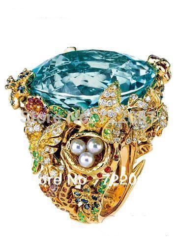 Купить товарПакет почты 925 чистое серебро инкрустированные аквамарин кольцо женское микро карты жемчуг с окрашенный камни в категории Кольцана AliExpress.             Встроенные в Главный камень размер: 20x20 мм                      Микро набор в камень