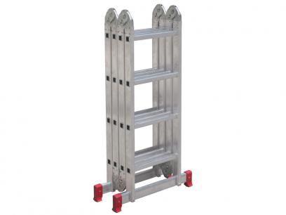 Escada Alumínio Articulada Botafogo - 16 Degraus 4x4 com as melhores condições você encontra no Magazine Oliverneia. Confira!  R$ 279,90 em até 9x de R$ 31,10 sem juros no cartão de crédito