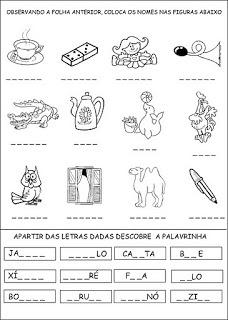 Atividades com silabas simples