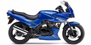 The 2009 Kawasaki Ninja 500R in Candy Plasma Blue.  It's how I roll...literally...