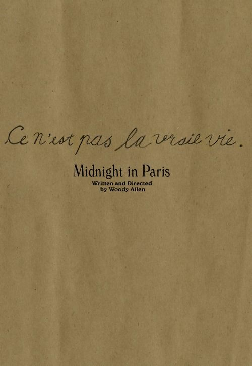 """Midnight in Paris (""""this is not the right life"""")"""