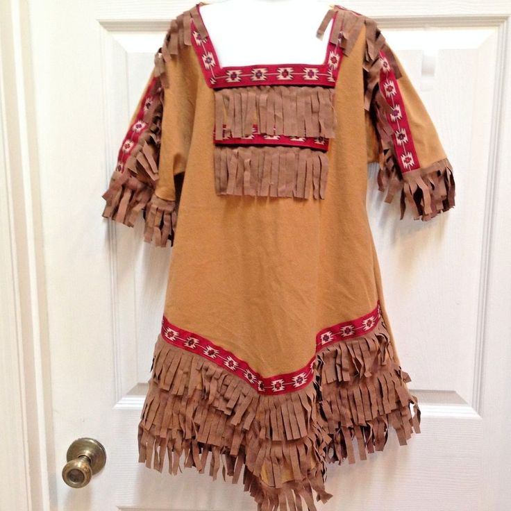 Native American Indian Girl Costume Childs Medium Western Pocahontas Dress #Unbranded #Dress