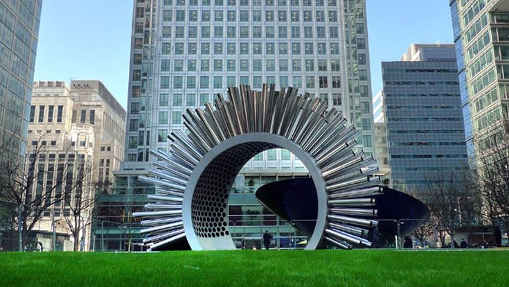 sound sculpture | luke jerram: aeolus wind sound sculpture at canary wharf, london