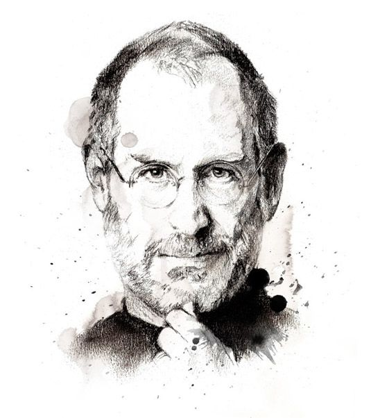 Ilustrator Chris Valentine drew this portrait of Steve Jobs after being commissioned by Liquid Capital group in South Africa  Illustration i...