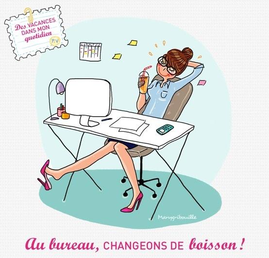 Au bureau, changeons de boisson ! Illustration by @Marie-loup Berenger