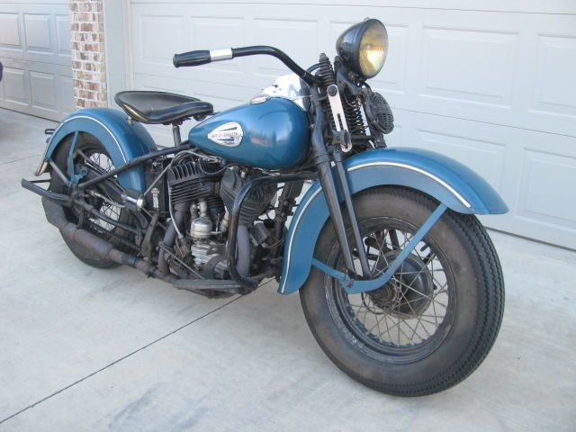 1946 WL Harley Davidson Flathead 45 Original Unrestored