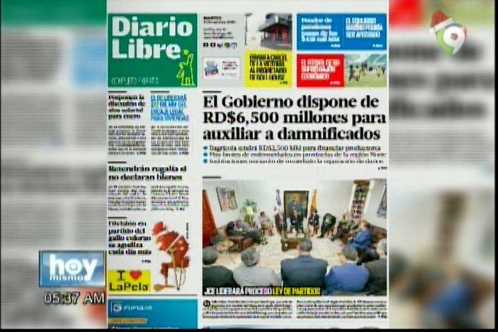 Portada De Los Periódicos Del Día De Hoy 6-Diciembre-2016