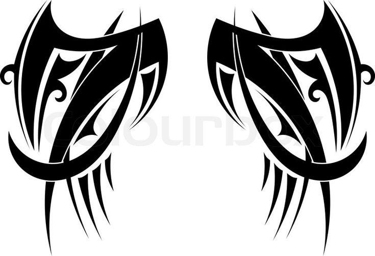 Stock-Vektor von 'Grafik Tribal Tattoo Flügel. Vektor-illustration'