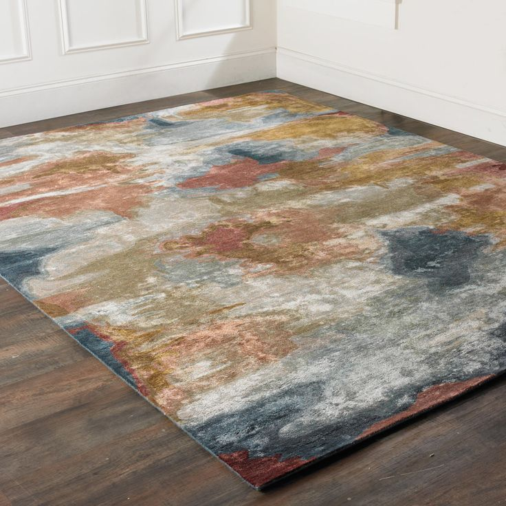 Contemporary Reflections Hand Tufted Rug multicolored