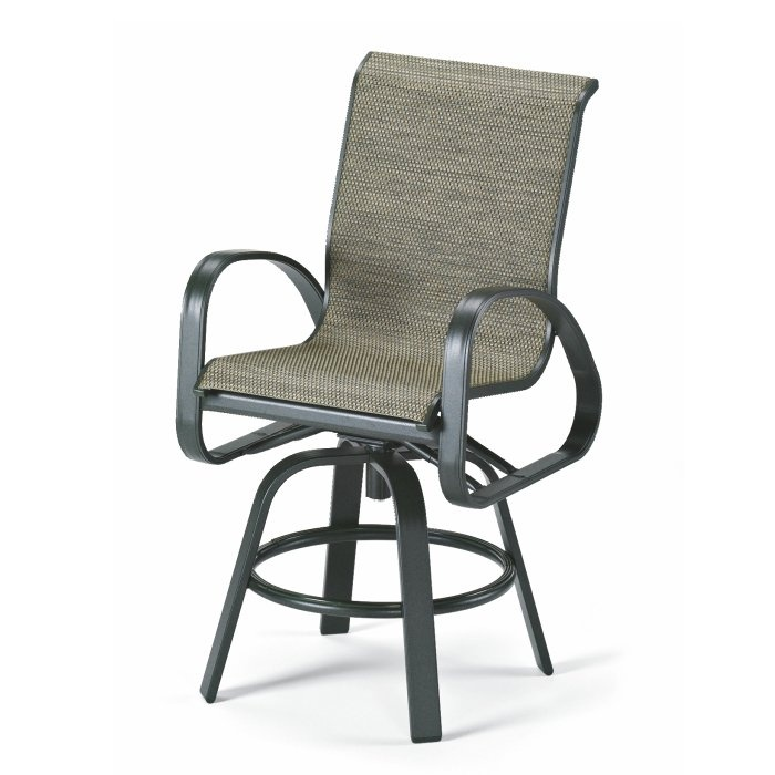 Marvelous Telescope Casual Furniture 9085 11S Primera Outdoor Counter Height Swivel  Arm Chair