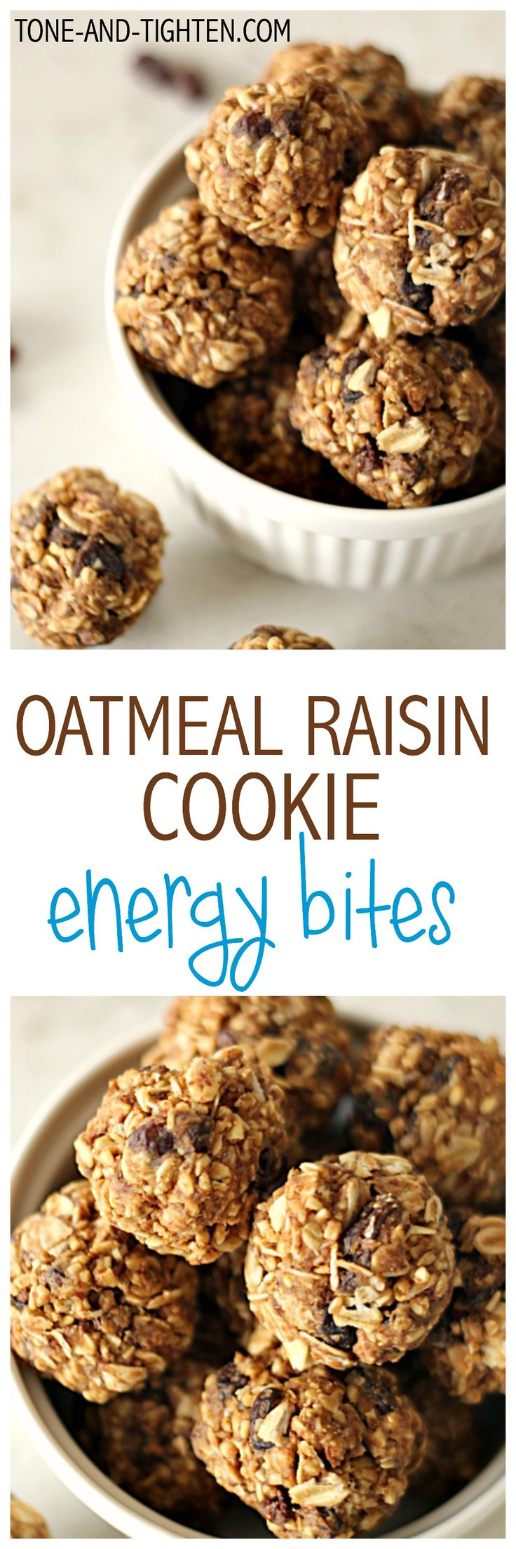 Oatmeal Raisin Cookie Energy Bites from Tone-and-Tighten.com