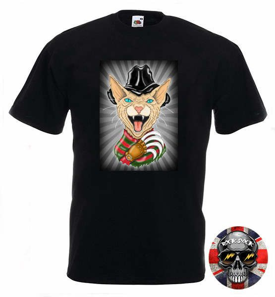 Horror Funny Sphynx Cat T-Shirt Check out this item in my Etsy shop https://www.etsy.com/uk/listing/510244158/horror-cat-drawing-evil-shynx-funny #funnycats #sphynxcat #horrorcat #horrormovies #hairlesscats #evilcat #cattshirt #catclaws #cathumor #hilariouscats #evilkitty #funnycattshirt