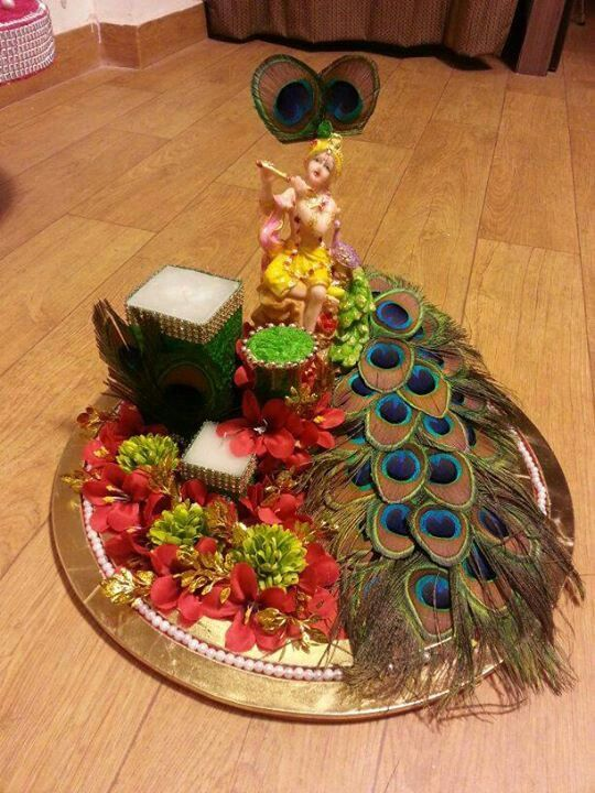 237 best decorative thali images on pinterest tray for Aarti dish decoration
