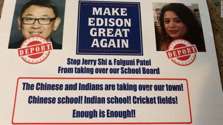 Fliers sent to mailboxes in New Jersey town say 'Deport' Asian candidates - CNN