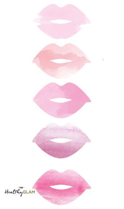 Pink Watercolor lips phone wallpaper
