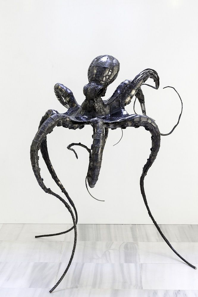 BÜŞRA KÖLMÜK - Octopus Attack - Metal, 170x113x183cm, 2017 - EKAV-ARTIST New Generation 3