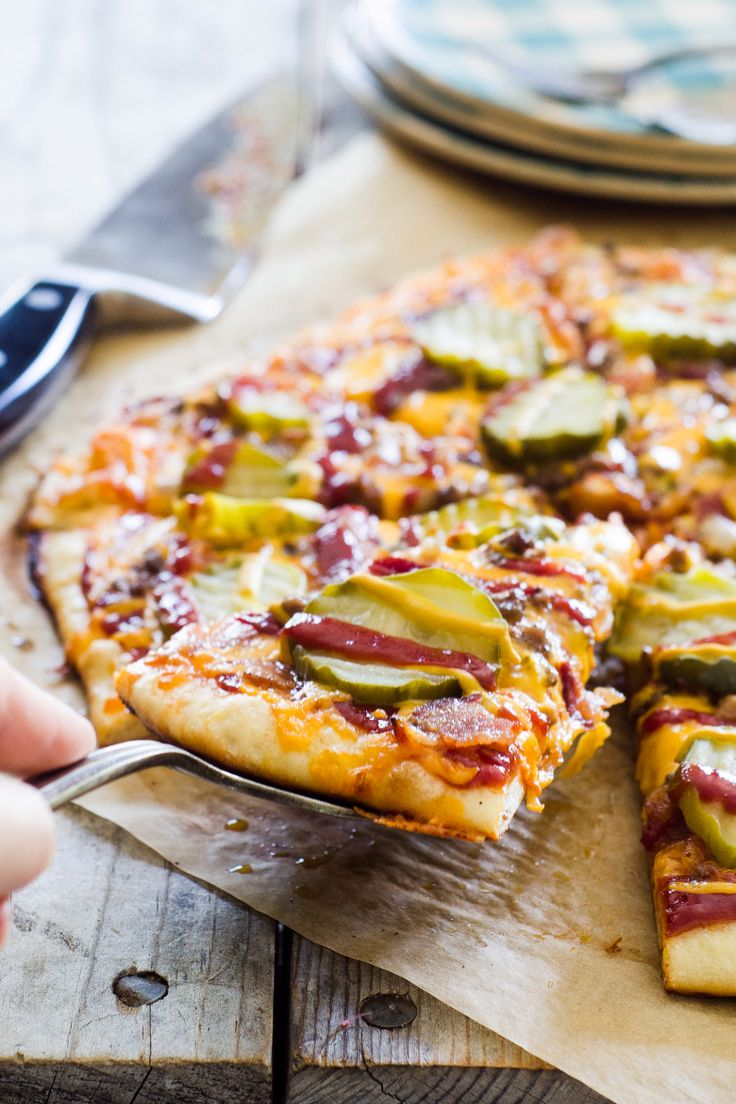 Bacon Cheeseburger Pizza - I don't know about this one. It sounds a little weird.
