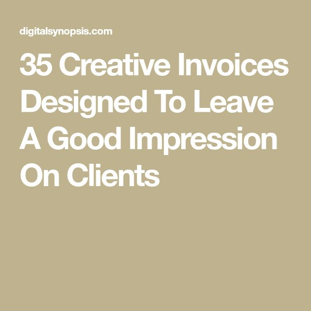 35 Creative Invoices Designed To Leave A Good Impression On Clients