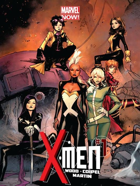 new X-Men cover art by Olivier Coipel; X-Men comic will relaunch in April 2013 with an all-female cast of characters.