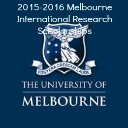 2015-2016 Melbourne International Research Scholarships (MIRS) in Australia , and applications are submitted till 31 May 2015. The Melbourne International Research Scholarships (MIRS) are awarded to international students who wish to undertake graduate research degree studies (e.g. master's by research, PhD or other research doctorate) at the University of Melbourne. - See more at…