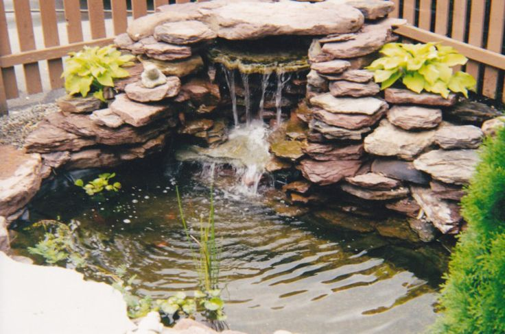 34 best my new backyard pond project images on pinterest for Small fish ponds with waterfalls