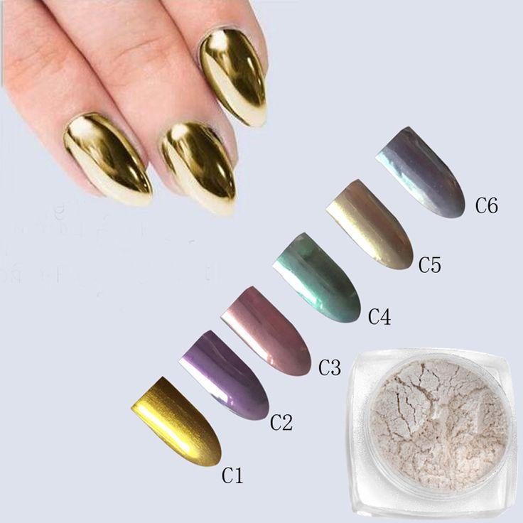 2 g/kutu Altın Şerit Tırnak Glitter Toz Shinning Ayna Göz Farı Makyaj Toz Toz Nail Art DIY Krom Pigment Pırıltılar MAR