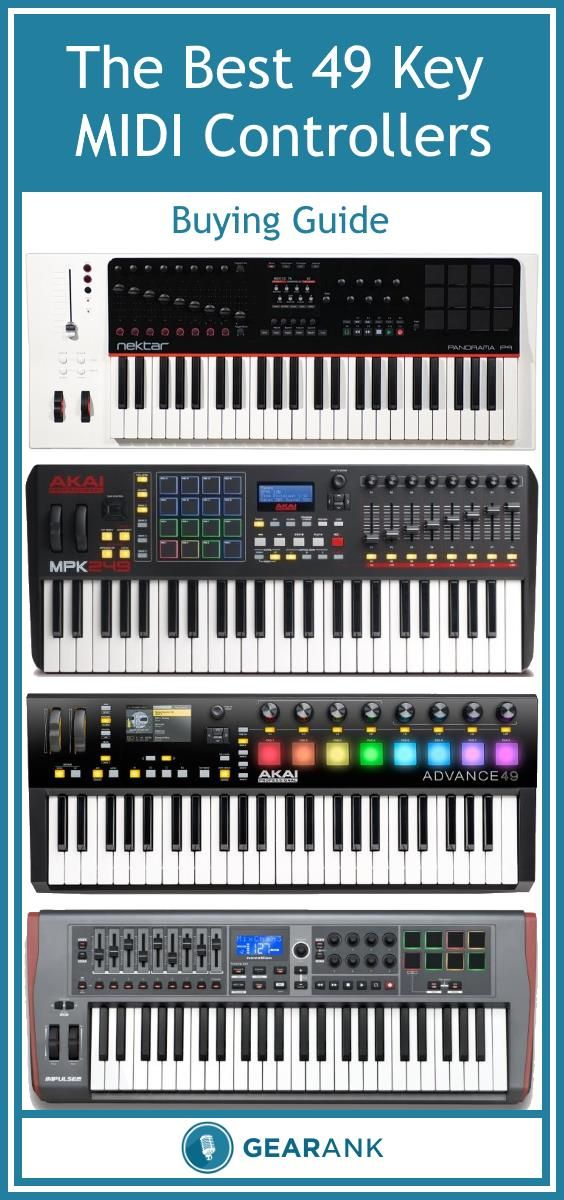 Detailed guide to the Best 49 Key MIDI Controller Keyboards.  These can be used to control your DAW and plugins - some of them also have 5-pin MIDI for controlling other MIDI hardware such as synths.