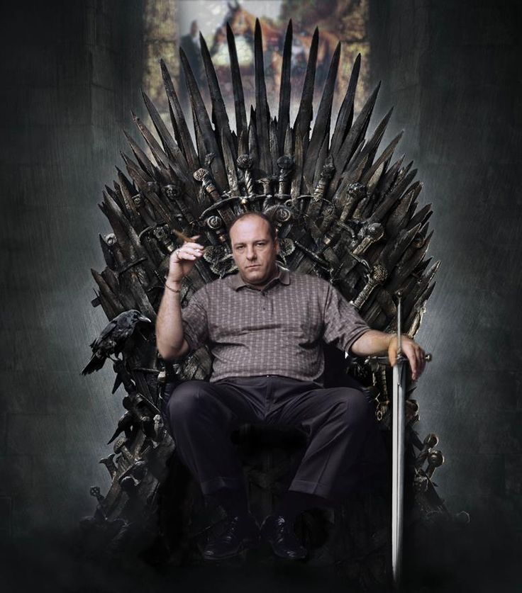 dailyhantzis:    Tony Soprano on the throne    RIP James