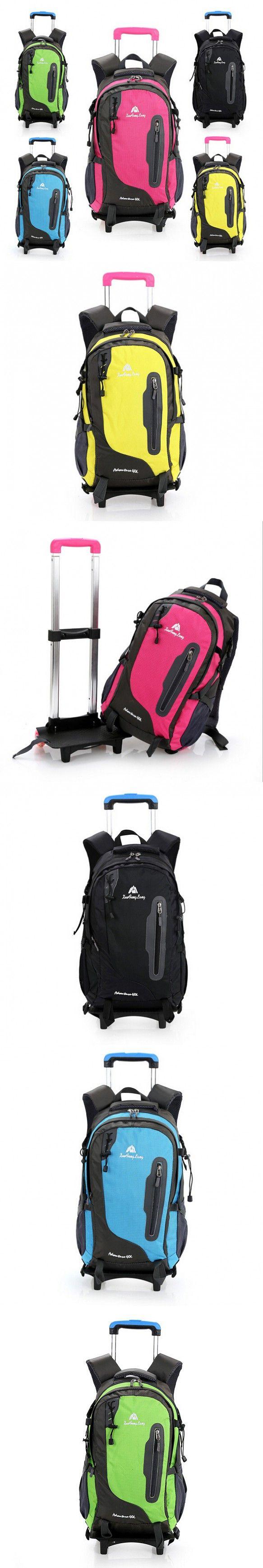 School bags fashion orthopedic backpack kids school bag with wheels casual men and women bag trolley bag detachable &80027