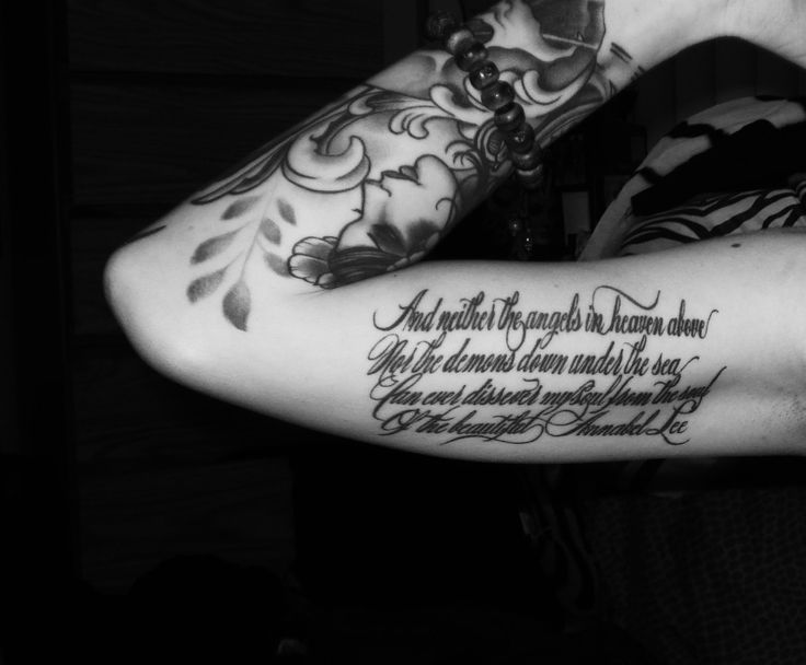 "Annabel Lee Edgar Allan Poe tattoo ""And neither the angels in heaven"