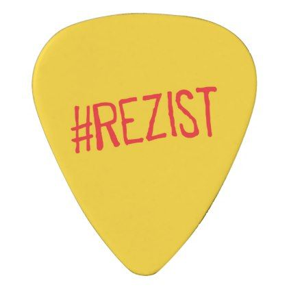 rezist romania political slogan resist protest sym guitar pick - home gifts ideas decor special unique custom individual customized individualized
